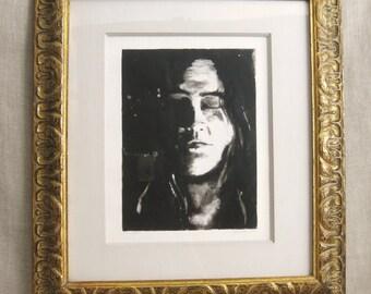 Female Portrait, Monotype, Prints, Fine Art Print, Original Art, Portraits, Portraits of Women, Portraiture, Framed Prints, Framed Art, Art