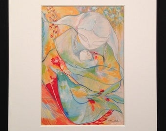 Art Print, Archival Giclee Print, Mother and Child
