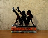 Vintage Bookends Chrome Pin Up Girls