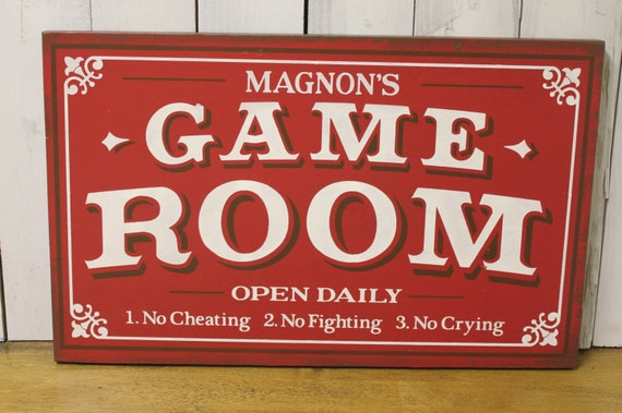 Custom Man Cave Signs Canada : Game room sign personalized man cave christmas gift you choose