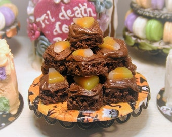 12th Scale Doll house ~Halloween Spooky Chocolate Brownie Stand