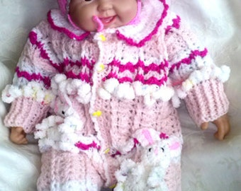98. The suit crocheted handmade baby