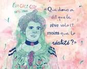 Feminist print, Éva Circé-Côté, Poster, Quebec Feminist, French canadian feminist woman