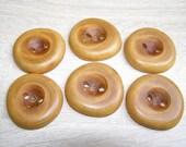 """6 Handmade plum wood buttons, accessories (1,89"""" diameter x 0,31"""" thick)"""