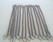 "20"" Pick your own chainmail weave! Stainless steel wallet chain"