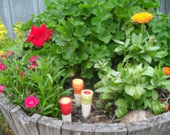 Butterfly Puddler Spike -butterfly feeder -pink blue orange yellow