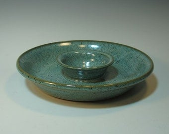Chip n Dip Serving Dish - all one piece - smaller size for easy storage