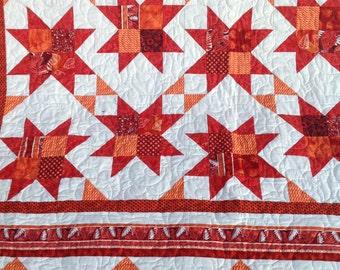 Queen quilt Garden Gate pattern