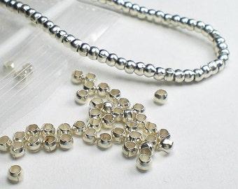 2.5mm Spacer Bead Karen Hill Tribe Fine Silver Rondelle Beads 50 pcs HT-298