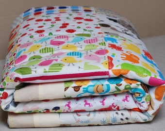 Colorful Handcrafted Animals Light Quilted Handmade Patchwork Quilt Bedroom Blanket 140cm x 200cm