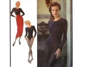 80s Bodysuit & Sarong Skirt Style 1788 Size 6 8 10 Bust 30.5 -31.5 -32.5 inches