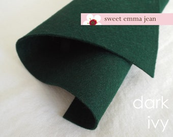 Wool Felt 1 yard cut - Dark Ivy - wool blend felt