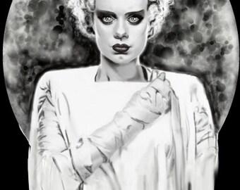 The Bride of Frankenstein print