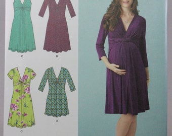 Simplicity 1360, Misses' Maternity Knit Dress or Mini Dress Sewing Pattern, Sizes 8 to 16, New and Uncut