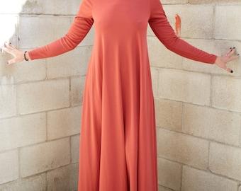 1970s Alley Cat by Betsey Johnson minimalistic mauve dress , Rare.