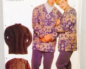 Uncut, Vogue Patterns 9731 Unisex Loose Fitting Winter Pullover Tops Sewing Pattern, XS, S, M, L, XL