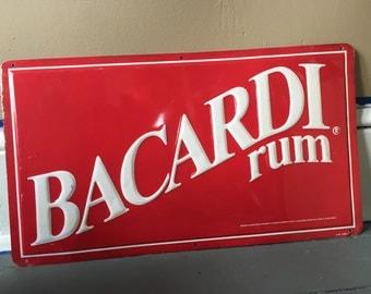 Vintage Bacardi Tin Sign