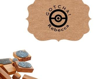 Custom Pokeball Gotcha Stamp