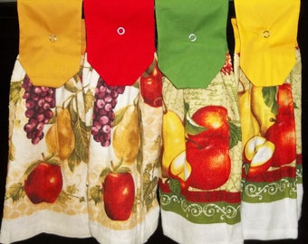 Hanging Kitchen Towels - Apples - Pears - Grapes
