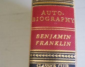VINTAGE BENJAMIN FRANKLIN Autobiography 1941