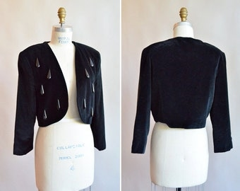 Vintage 1980s CRISTINA GAVIOLI velvet jacket