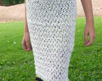 Girls skirt PDF crochet PATTERN tulips pencil skirt straight buttons clothing instructions feminine spring fashion knee length
