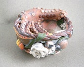 Tidal pool clay vessel art collectible