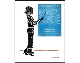 Personalized Female Electrical Engineer Print, Unframed Engineer Name Art, Gift for Electrical Engineer
