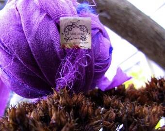 Purple Silk Chiffon Recycled Ribbon