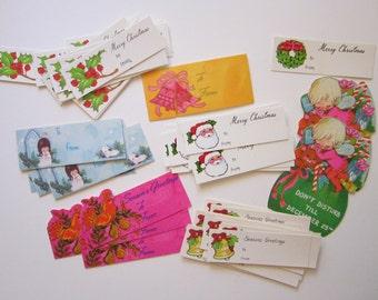 55 vintage Christmas gift tags