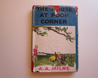 vintage book - The House at Pooh Corner - 1944 printing - A. A. Milne - children's book, illustrated