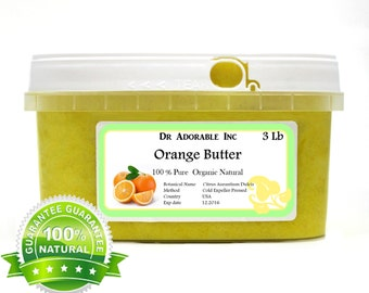 3 LB  Raw Pure Organic ORANGE Butter