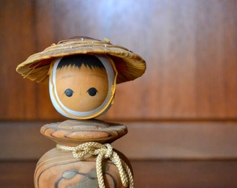 vintage wooden kokeshi doll