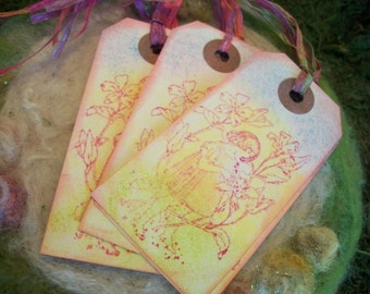 Gift Tags Little Fairy Gift Tags Set of 10 Flower Fairy Friends Gift Tags Fairy Kisses and Bookmark Happy Birthday Thank You Tags