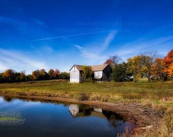 Ohio Autumn Farm Scene Fine Art Panoramic Print