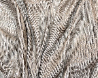 Items similar to vintage 70s skirt glitter metallic galaxy for Sheer galaxy fabric