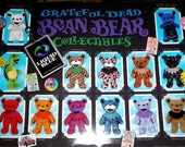 Grateful Dead Liquid Blue retail store POSTER Bean Bears 23x15.5 new old stock nos nm