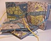 Handmade concertina pocketbook - London maps