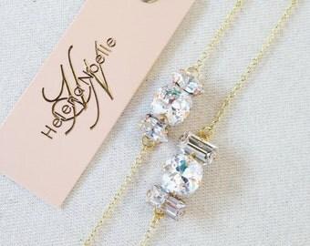 Swarovski Crystal Bridal Bracelet- Crystal Wedding Bracelet- Bridesmaid Bracelets- Bridesmaid Gift