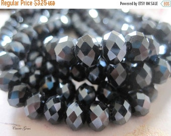 20% OFF ON SALE 30 pcs Deep Blue Chinese Crystal Faceted Roundelle 8mmx6mm Beads