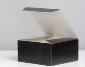 Black Gift Boxes - Set of 10- 4x4x2 inch