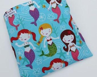 Reusable Eco Friendly Sandwich or Snack Bag Eco Friendly Mermaids