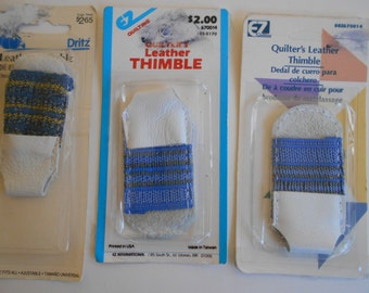 Leather Thimble Dritz/EZ Quilting/Wrights sewing/Needlework Notion.