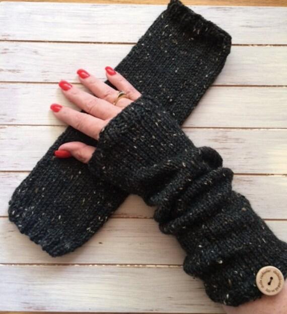hand stricken fingerlose handschuhe perfekt f r geschenke. Black Bedroom Furniture Sets. Home Design Ideas