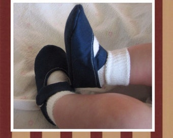 Baby Girl Shoes, Mary Janes, Navy Blue