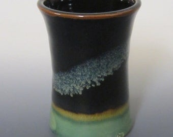 Stoneware cup / handmade / coffee cup / tea cup / pottery / water cup / tumbler / black / blue / green