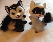 Raccoon and Skunk Tchotchkes