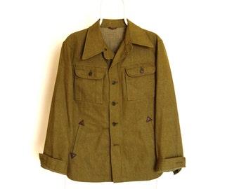 Vintage 60's  Jacket . Military Style