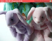 Bunny Rabbit, Beanie Babies, Floppity, Stuffed Animal, Baby Gift