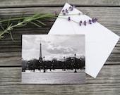 "Paris Photo Notecard - ""Place de la Concorde"" - Single Folded Card with Envelope, Blank Inside"